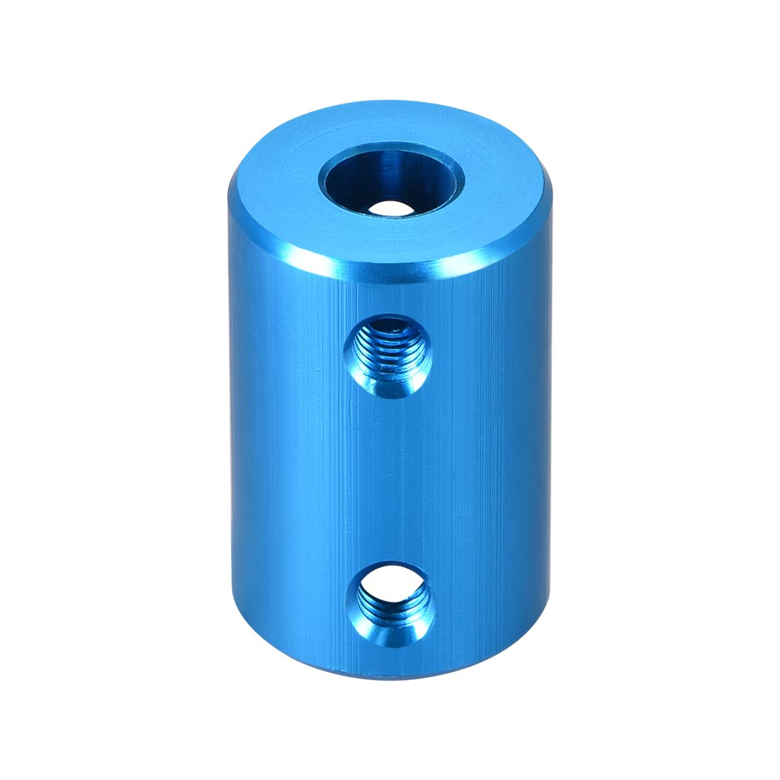 sourcing map Shaft Coupling 6mm to 8mm Bore L25xD14 Robot Motor Wheel Rigid Coupler Connector Blue