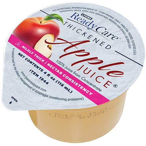 Lyons ReadyCare Thickened Apple Juice - Nectar Consistency, Level 2 Mildly Thick - 4 fl oz (48 pack)