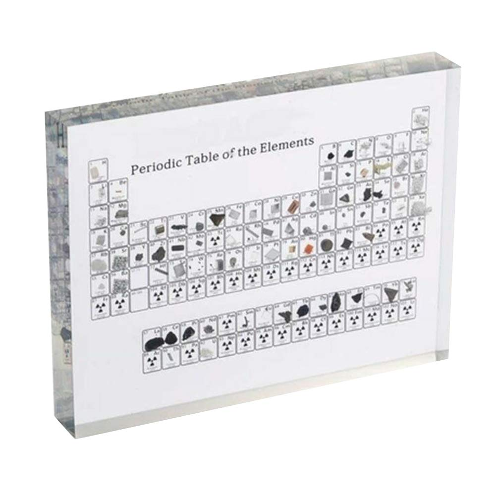 Foviza Acrylic Periodic Table Display with Elements Periodic Table of The Elements Display Case Holder Student Learning Tool Teacher Gifts by Foviza
