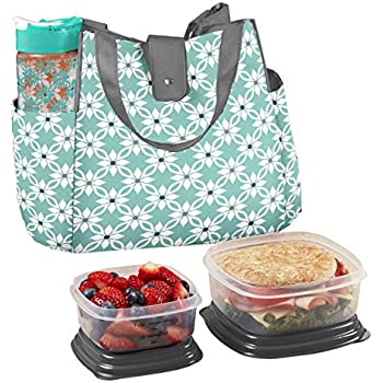 Brand new Amazon.com: Fit & Fresh Ladies' Westerly Insulated Lunch Bag Set  WH71