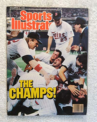 The Minnesota Twins Celebrate - 1987 World Series Champions! - Sports Illustrated - November 2, 1987 - St Louis Cardinals - SI