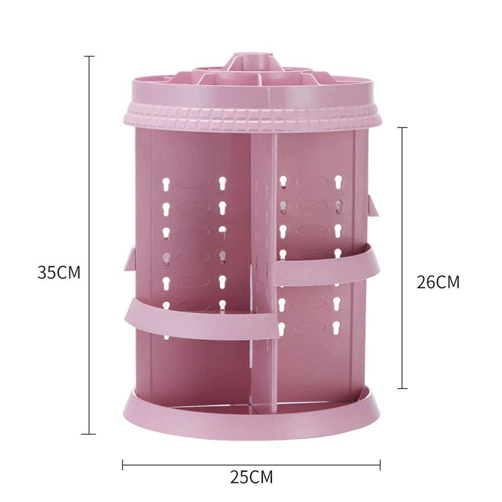 3c589120ec ZDD Scatola di immagazzinaggio- immagazzinaggio- immagazzinaggio- Scatola  di immagazzinaggio rotante di plastica rosa, contenitore di rifinitura dei  ...