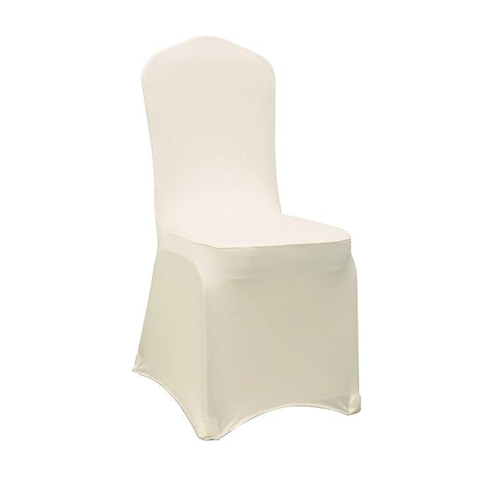Amazon.com: Fundas elásticas de licra para sillas de boda ...