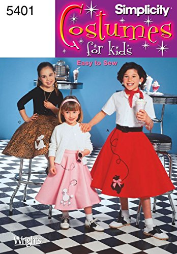 Simplicity Sewing Pattern 5401 Child and Girl Costumes, K5 - Costume Girls Sewing Pattern