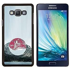 KLONGSHOP // Cubierta de piel con cierre a presión Shell trasero duro de goma Protección Caso - Composición de la montaña - Samsung Galaxy A7 A7000 //