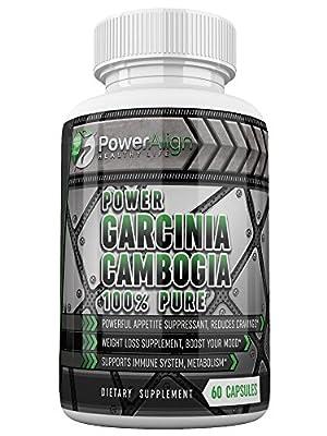 Power Garcinia Cambogia 100% Pure | Optimum Strength | 500 mg 60 ct Veggie Capsules | 60% HCA