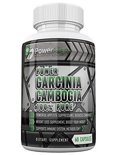 Power Garcinia Cambogia 100% Pure | Optimum Strength | 500 mg 60 ct Veggie Capsules | 60% HCA