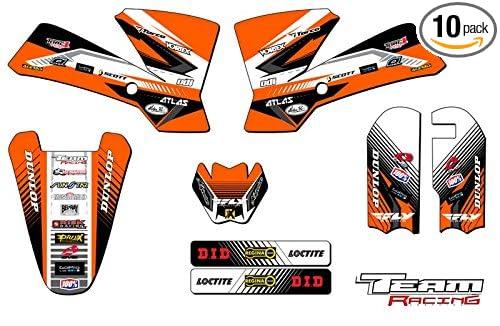 Team Racing Graphics kit for 2002-2008 KTM SX 65, ANALOG Base kit