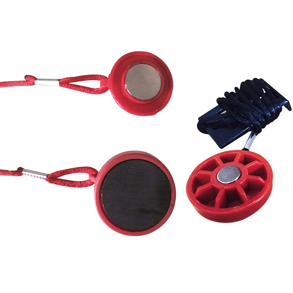 Cerradura de interruptor redondo de seguridad magn/ética para cinta de correr Llave de seguridad con im/án Accesorios de fitness Piezas de im/án universal Llave de seguridad para cinta de correr