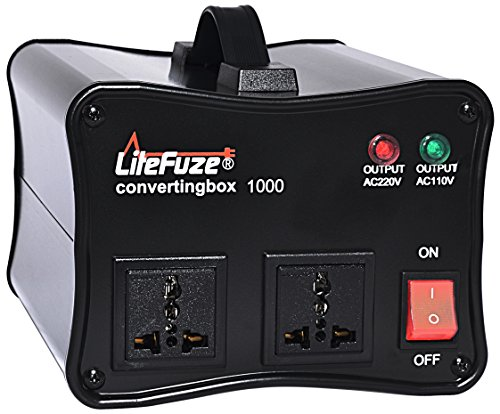 LiteFuze convertingbox 1000-Black 1000 Watt Auto Voltage Con
