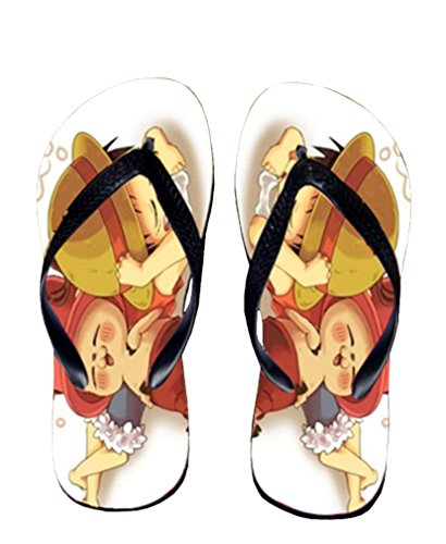 Bromeo One Piece Anime Unisex Flip Flops Chanclas 369