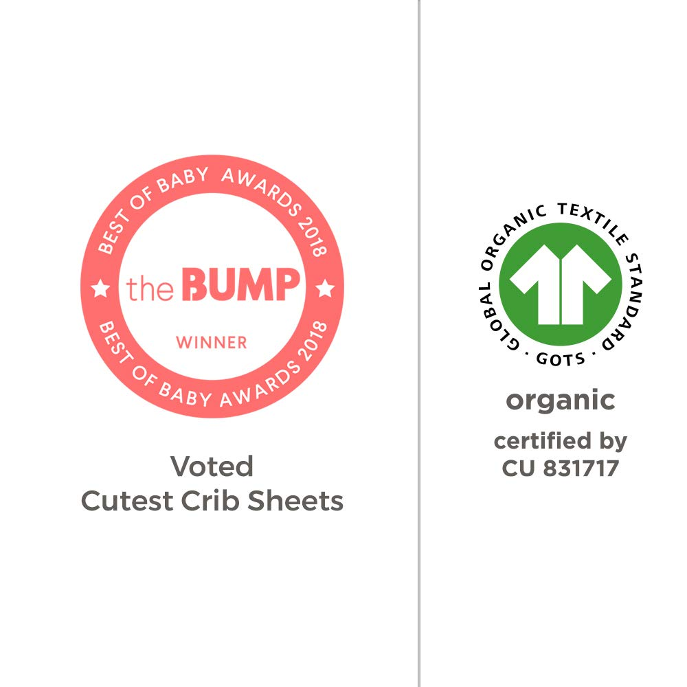 Burt's Bees Baby - Fitted Crib Sheets, 2-Pack, Boys & Unisex 100% Organic Cotton Crib Sheet for Standard Crib and Toddler Mattresses (Pine Forest) by Burt's Bees Baby (Image #8)