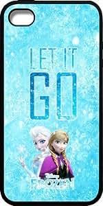 Disney Frozen Let It Go For Apple Iphone 4/4S Case Cover - Disney Frozen For Apple Iphone 4/4S Case Cover s Hard Plastic Case Cover - Black