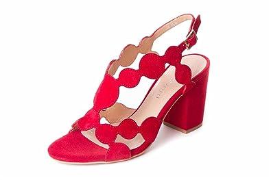 Damen Zehentrenner, Rot - Rot - Größe: 36 EU Adele Dezotti