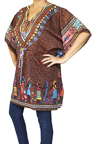 Maple Clothing Para Mujer Impreso Ropa Playa Ropa De Noche Caftan marrón