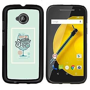 """Be-Star Único Patrón Plástico Duro Fundas Cover Cubre Hard Case Cover Para Motorola Moto E2 / E(2nd gen)( Bebida Cartel Cóctel Verde Vino"""" )"""