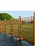 Expanding Wooden Fence Mahogany One Size