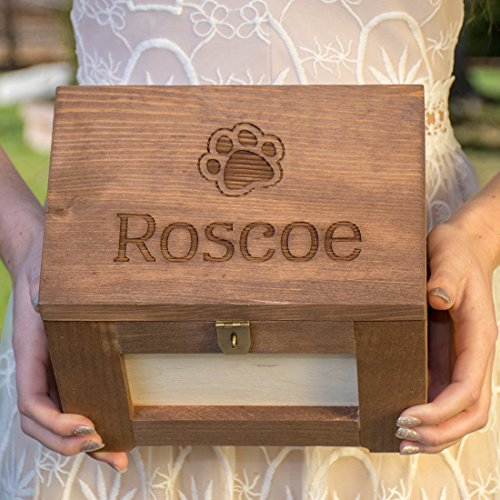 Personalized Pet Memory Box Dog Memorial Photo Frame Chest Picture - Memorial Chest