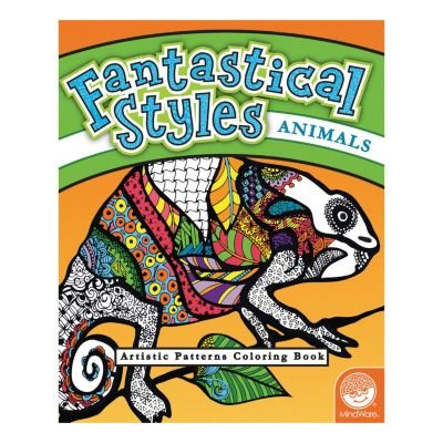 MindWare Fantastical Styles Coloring Book: (Animals)
