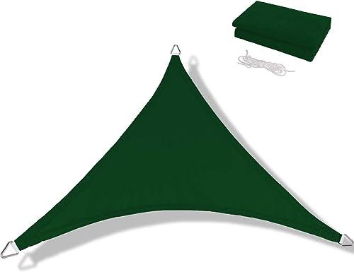 Anecoul Sun Shade Sail Waterproof Triangle 20' x 20' x 20' Shade Sails 95 UV Blocker Sunshade Patio Carport Awning