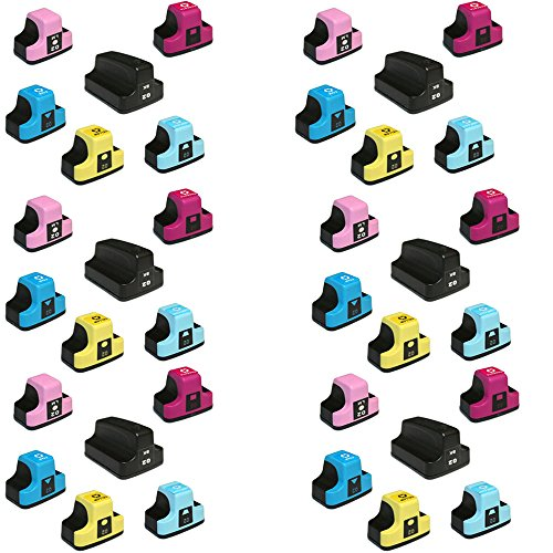 HOTCOLOR 02 Ink Cartridge Remanufactured for HP 02XL HP 02 (6X6Sets) for HP Photosmart C7250 C7280 C8150 C8180 C8183 D6160 D7145 - D6160 Light
