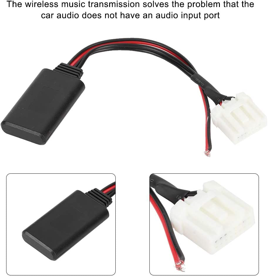 Bluetooth stereo Aux in adaptor cable For Mazda 3 5 6 2 M3 M6 MX5 RX8