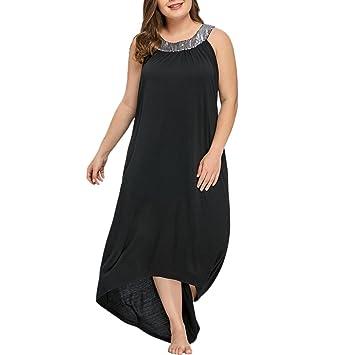 LILICAT® Vestido largo Talla extra, XL ~ 5XL, Vestido sin tirantes sin tirantes