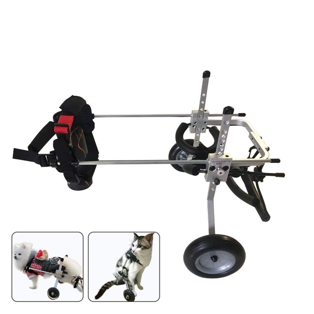 Silla de ruedas para perros, Silla de ruedas para perros Arnés de movilidad para perros, Silla de ruedas con soporte trasero, Rehabilitación de patas ...