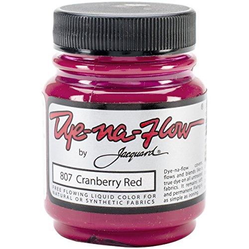 Liquid Batik Dye (Jacquard Products Jacquard Dye-Na-Flow Liquid Color, 2.25-Ounce, Cranberry)