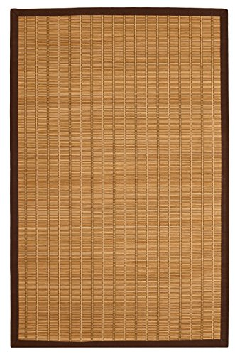 [Anji Mountain AMB0020-0058 Pearl River Rectangular Area Rug, Light Brown, 5 x 8-Feet] (Rectangular Bamboo Area Rugs)