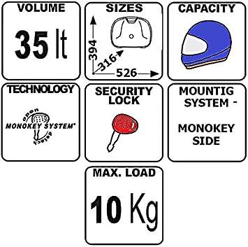 Paire de valises lat/érales Givi Monokey E22N noir 22 litre universel