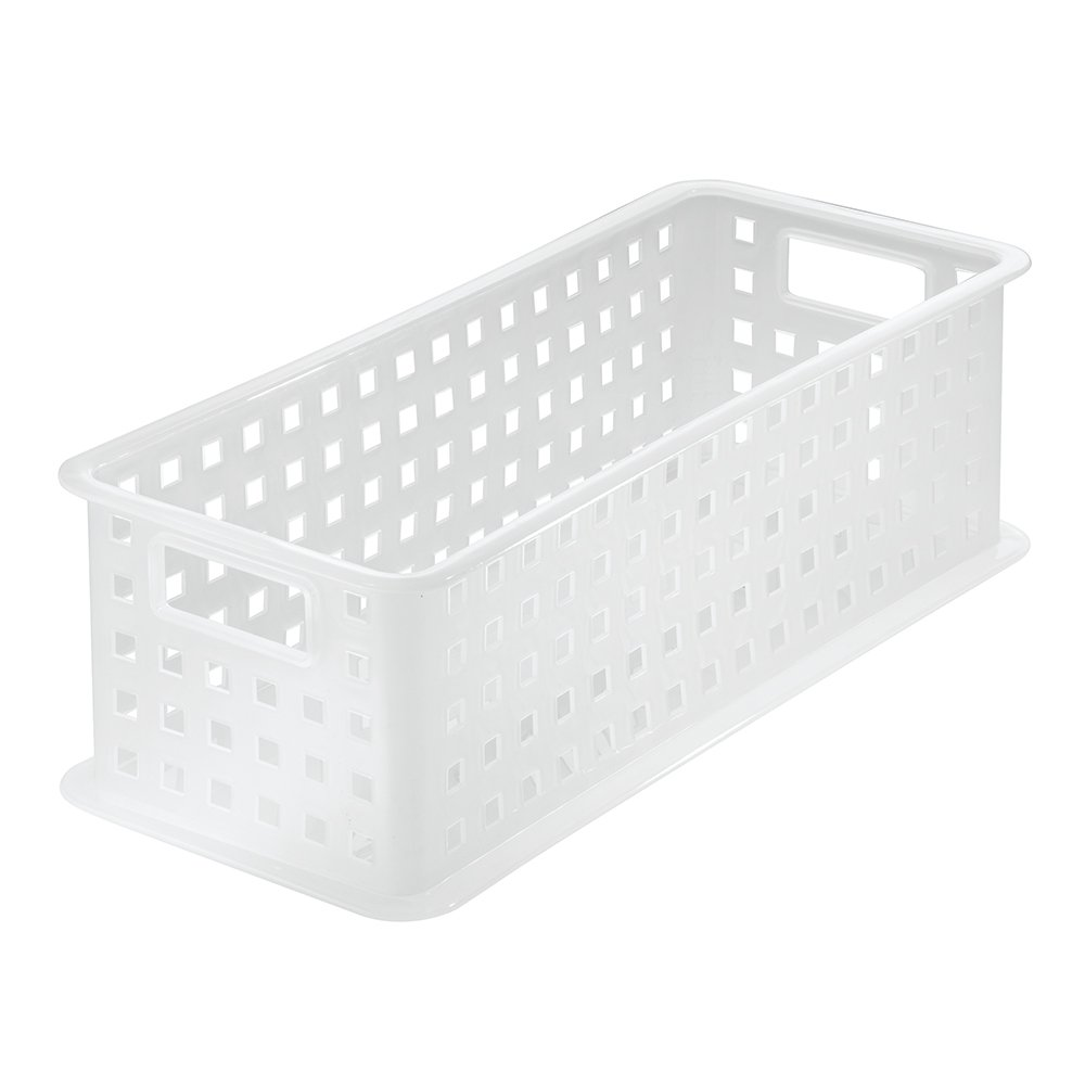 Amazon.com: InterDesign Storage Organizer Basket, For Bathroom, Health And  Beauty Products, Bath Towels   Large, Frost: Home U0026 Kitchen