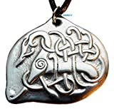 Nordic Knotted Dragon- Pewter Pendant - Norse Jewelry, Celtic
