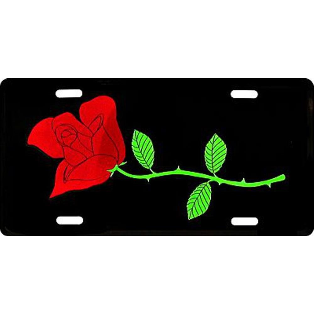 License Plate Signs 4 Fun Slrr Red Rose