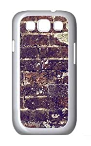 Brick Wall Texture Custom Hard Back Case Samsung Galaxy S3 SIII I9300 Case Cover - Polycarbonate - White