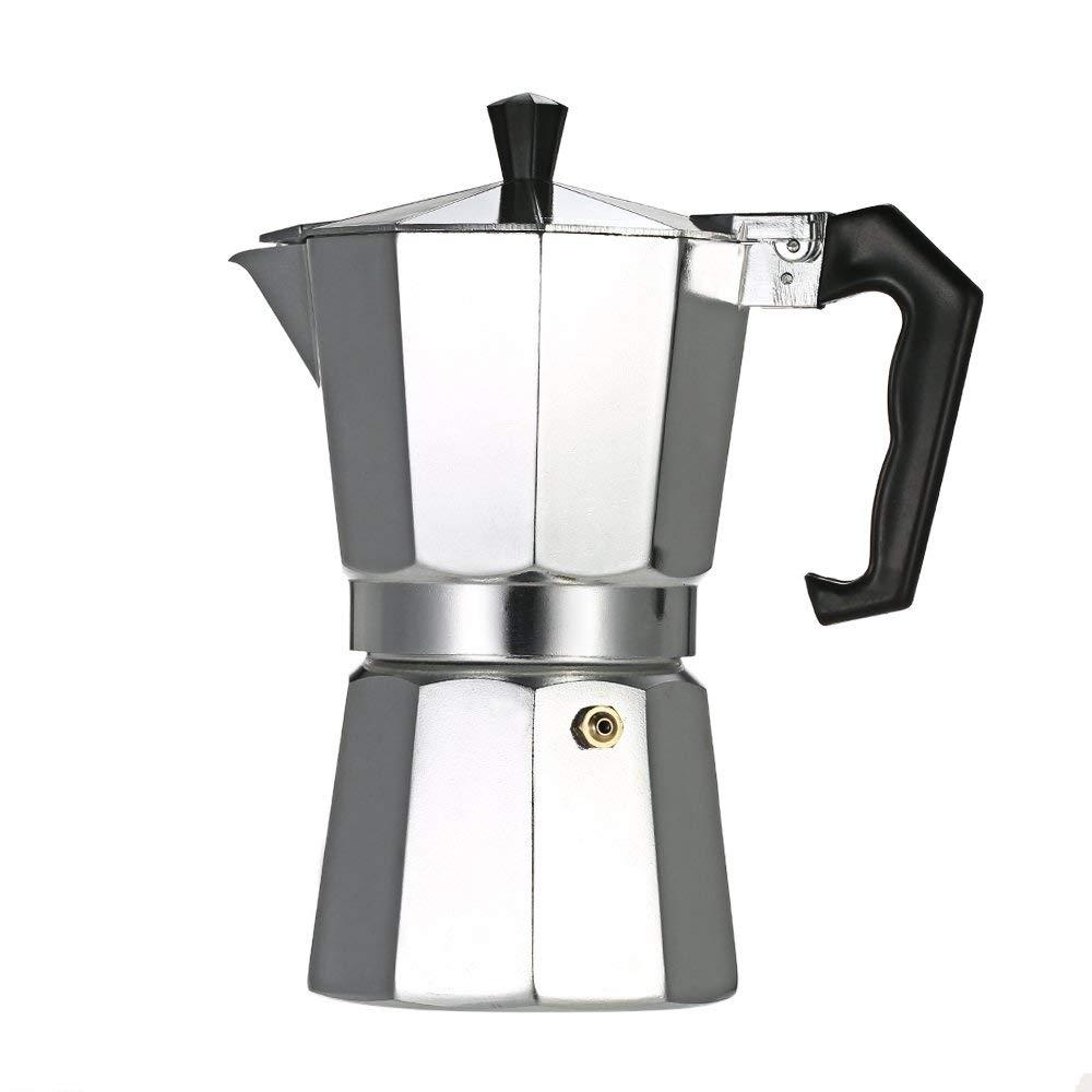 Acquisto W&Z Moka Pot fornello Espresso Maker caffettiera con valvola di Sicurezza,9cup450ml Prezzi offerta