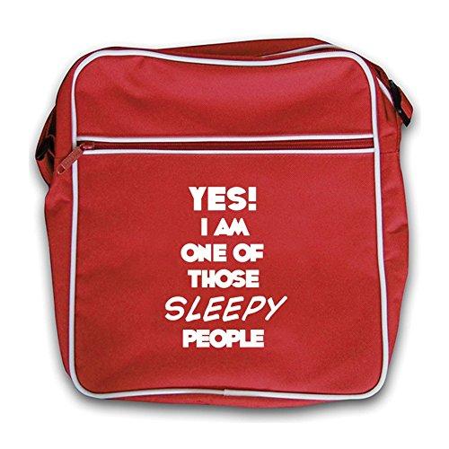 Of Red Those Bag I SLEEPY Retro People Black Flight Am One Yes tfPqOw6t
