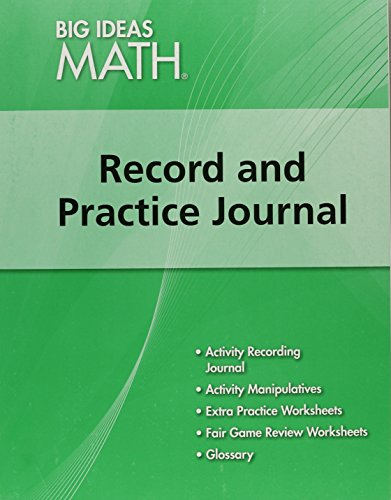 Big Ideas Math  Record   Practice Journal Green Course 1