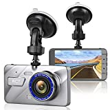 Dash Cam Full HD 1296P 4.0'' IPS Screen 170 Degree Wide Angle Lens Car Camera DVR Dashboard Camera With G-sensor,Star Night Vision,Loop Recording,WDR WITH 16GB SD CARD
