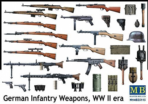 - Master Box WWII German Infantry Weapons Figure Model Building Kits (1:35 Scale)
