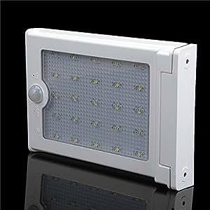 25-LED Super Bright Solar Powered Human Sensor Light Lamp Garden Outdoor Light
