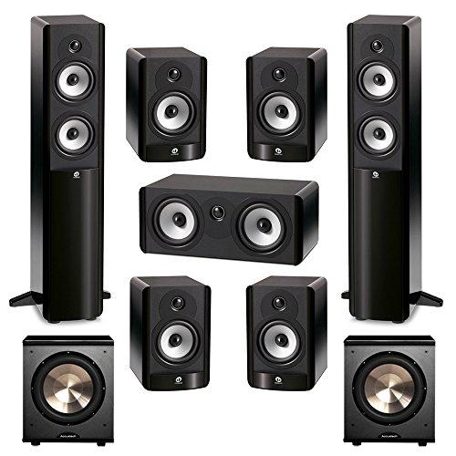 Boston Acoustics 7.2 System with 2 A250 Floorstanding Speakers, 1 A225C Center Channel Speaker, 4 A25 Bookshelf Speaker,