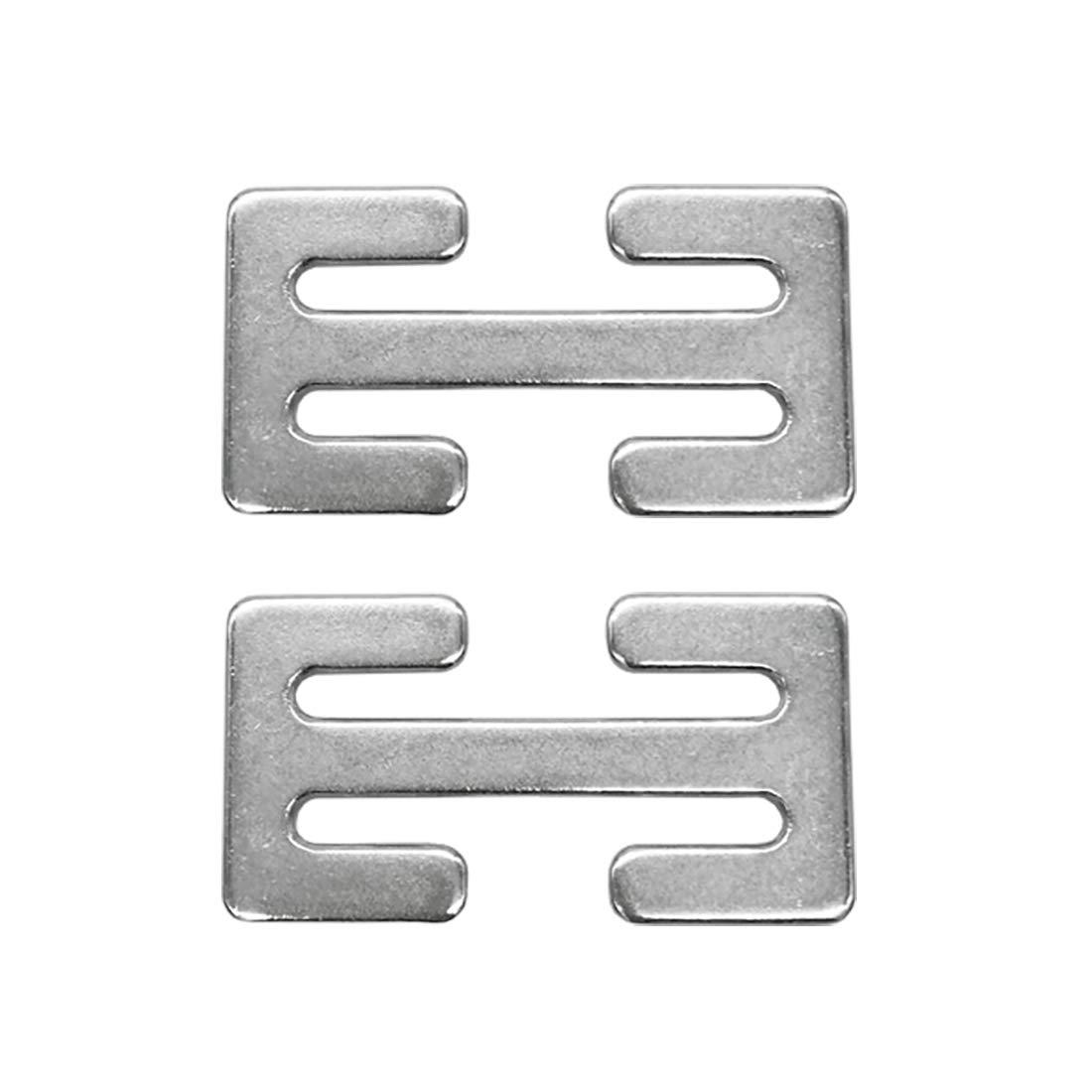 Sungrace Metal Lock(Silver, 2 Pack)