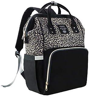 Diaper Bag Backpack, Diaper Bags for Baby Girl, Leopard Diaper Backpack Baby Bag…