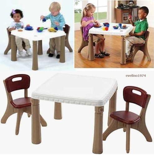 Desconocido Generic NV_1008003794_YC-US2 erson Se Kitchen-Dining - Mesa Infantil y sillas para Comedor (Mesa de Dos Personas): Amazon.es: Juguetes y juegos