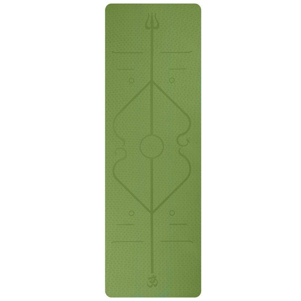 LMSHM Tappetino Yoga Stuoia di Yoga di 6Mm Stuoia di Singolo Strato della Linea del Corpo Stuoia Multifunzionale di Yoga di Protezione DellAmbiente di Protezione Multifunzionale Antiscivolo Tappetini