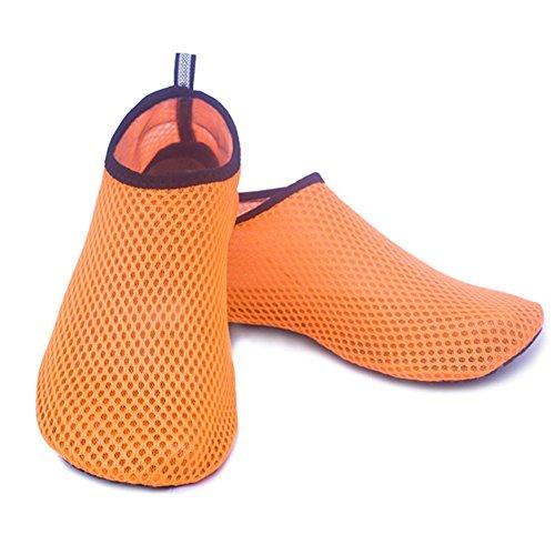 pour Pour Idéales Chaussures Orange nus plage homme Freedivesw plongée plongée femme rapide de la la le et Sensation et pieds Séchage surf pgxqgOXr7w