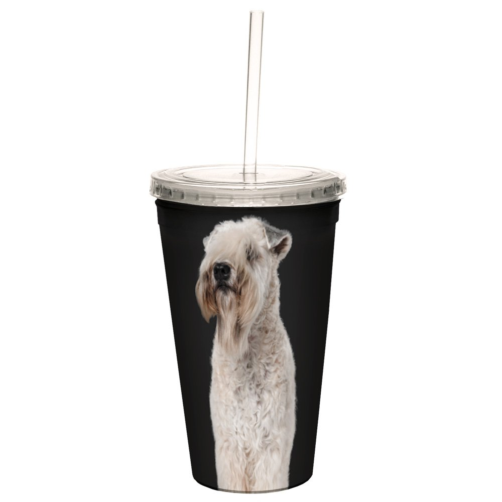 Tree-Free Greetings Cc35124 I Heart Soft Coated Wheaten Terriers Artful Traveler - Taza de doble pared con pajita reutilizable, 473 ml: Amazon.es: Hogar