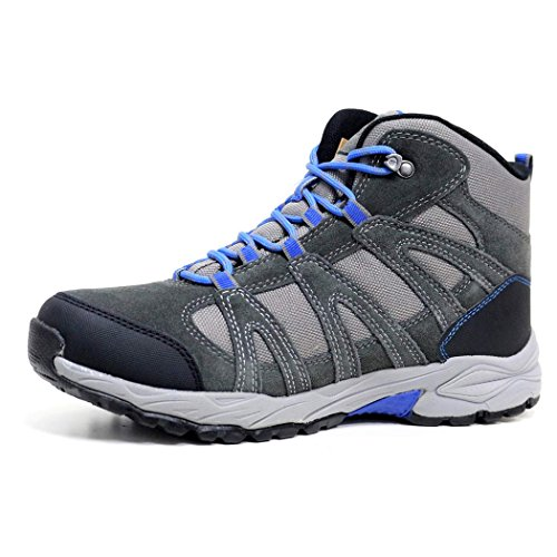 Hi-Tec Mens Leather Walking Hiking Trek Waterproof High Rise Trainers Boots Shoes Size 7-13 Charcoal / Grey qmwZ3E