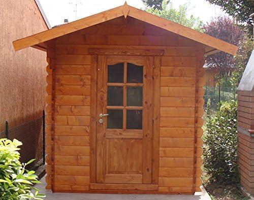 Casita de madera de jardín dekalux 2 x 3: Amazon.es: Jardín
